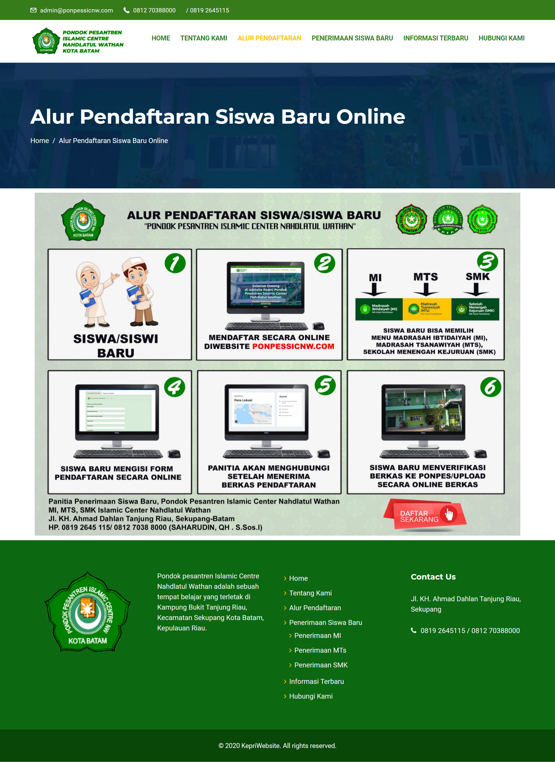 Jasa Pembuatan Website Pesantren